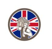 British House Removal Union Jack Flag Icon Stock Photos