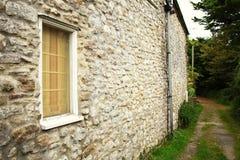 British stone house wall style scenic. British house wall stone atmosphere represent the british urban scenic Royalty Free Stock Image