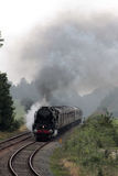 British India Line steam train on test run. 35018 British India Line preserved and historic steam train on test run on Thursday 17th August 2017 seen soon after Stock Image