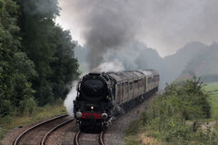 British India Line steam train on test run. 35018 British India Line preserved and historic steam train on test run on Thursday 17th August 2017 seen soon after Royalty Free Stock Photo