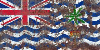 British Indian Ocean Territory grunge flag, British Overseas Ter. Ritories, Britain dependent territory flag Royalty Free Stock Photography