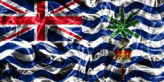 British Indian Ocean Territory smoke flag, British Overseas Terr. Itories, Britain dependent territory flag Royalty Free Stock Image