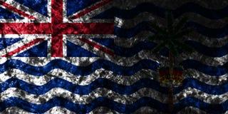 British Indian Ocean Territory grunge flag on old dirty wall, British Overseas Territories, Britain dependent territory flag. British Indian Ocean Territory stock illustration