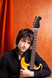 British indie pop rock look young musician Royalty Free Stock Images