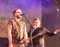 British indie rock band Scouting for Girls at the Pub in the Park festival, Bath, UK.