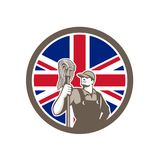 British Industrial Cleaner Union Jack Flag Icon Royalty Free Stock Photo