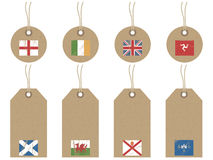 British isles flag tags Stock Photo