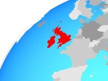 British Isles on globe. 3D illustration vector illustration
