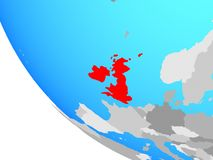 British Isles on globe. British Isles on simple globe. 3D illustration vector illustration