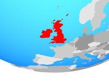 British Isles on globe. British Isles on simple political globe. 3D illustration vector illustration