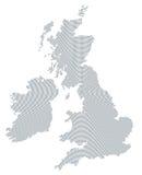 British Isles map gray radial dot pattern Stock Photography