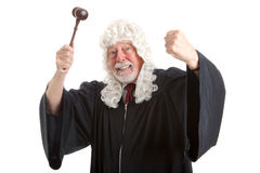 British Judge Frustrated and Angry Stock Image