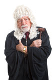 British Judge - Stern and Serious Royalty Free Stock Photos
