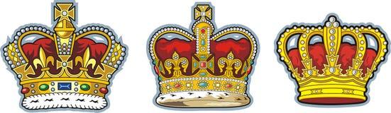 british korona trzy ilustracja wektor