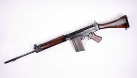 British L1A1 SLR assault rifle. British version of the FN FAL, the 7.62mm L1A1 SLR. Used in the Falklands War, Ulster and in Vietnam by Australian forces. In Royalty Free Stock Photography