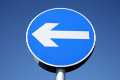 British left turn only sign. Royalty Free Stock Photo