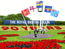British Legion display, Plymouth Hoe. A Royal British Legion display to celebrate 90 years on Plymouth Hoe in 2011 Royalty Free Stock Photography