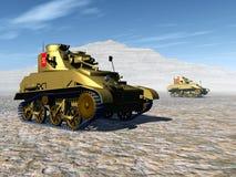 British Light Tanks. Computer generated 3D illustration with British Light Tanks of World War II Stock Photography