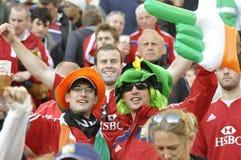 British lions & irish supporters. Enjoying themself Royalty Free Stock Images