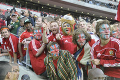British lions & irish supporters. Brtish supporters at Southern kings vs British lions match Stock Image