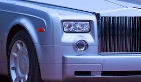 British luxury car. Close-up. Royalty Free Stock Image