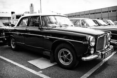 British luxury car Rover P5B, (black and white) Royalty Free Stock Photography