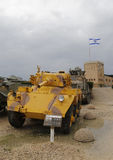 British made Saladin armoured car on display. LATRUN, ISRAEL - NOVEMBER 27, 2014: British made Saladin armoured car on display at Yad La-Shiryon Armored Corps Royalty Free Stock Image