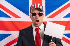British male businessman Brexit banner royalty free stock photography