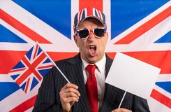 British male businessman Brexit banner royalty free stock image
