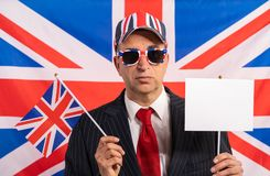 British male businessman Brexit banner stock photography