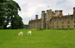 British Manor House with Deer Stock Photo
