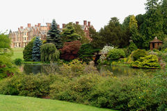 British Mansion with Gardens royalty free stock photo