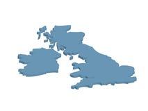 British map Stock Photos