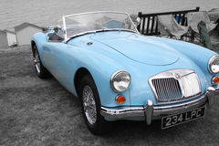 British mg sports car. Photo of a british mg vintage sports car on display at whitstable car show 21st august 2016 ideal for vintage travel cars etc Stock Image