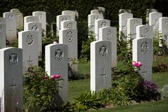 British Military Cemetery, Bayeux Normandy.France stock image