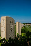 British military cemetery in sicily. Picture useful for Commemorative events of world war II in sicily, about the operation husky Royalty Free Stock Photography
