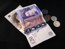 British money and Euros Stock Image