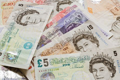 British Money Notes Royalty Free Stock Photos