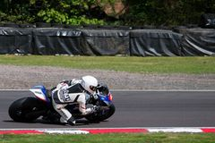 Superbike Race 004. British Motorbike / Superbike Race at Oulton Park race track, UK. Dry track Royalty Free Stock Photos