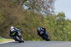 Superbike Race 009. British Motorbike / Superbike Race at Oulton Park race track, UK. Dry track Royalty Free Stock Image