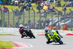 Superbike Race 014. British Motorbike / Superbike Race at Oulton Park race track, UK. Dry track Royalty Free Stock Photos