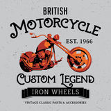British Motorcycle Poster Stock Photography