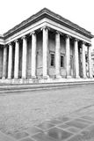 British Museum. Architecture of the British Museum in black and white Royalty Free Stock Photography
