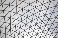 British Museum. Glass roof/ceiling at the entrance of the British Museum in London, England Stock Photos