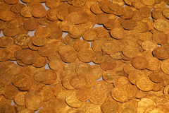 British Museum. Old gold coins in British Museum - background Stock Photography