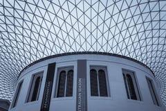 British Museum-binnenland Stock Foto's