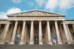 British Museum building facade with people in London Royalty Free Stock Images