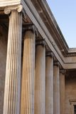 British museum columns Stock Photography