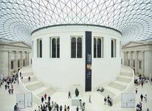British Museum den centrala korridoren och taket, London, England Arkivbild