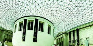 British Museum den huvudsakliga korridoren, London, UK Arkivbild